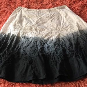 Embroidered ombré skirt